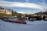 100 Jahre Chur - Arosa. Regelzug mit Allegra nach Chur in Arosa