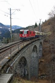 "100 Jahre Chur - Arosa! Ge 4/4 II 625 mit dem ""Alpine Classic Pullmann Express"" bei St.Peter-Molinis"
