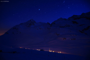 Nacht über dem Lago Bianco, Ospizio Bernina