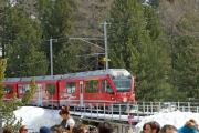 ABe 8/12 3508 erreicht Morteratsch