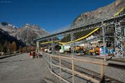 Installationen für den Neubau des Albulatunnels in Preda
