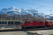 Umbau des Bahnhofs St. Moritz. Ge 4/4 II 621