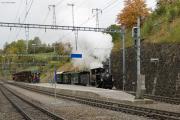 """Bahnoldtimer - 20 Jahre Club 1889: """"Holsboer Memorial Express"""" mit G 3/4 11 verlässt Filisur"""