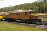 """Bahnoldtimer - 20 Jahre Club 1889: """"Bernina-Krokodil"""" Ge 4/4 182 in Bernina Suot"""