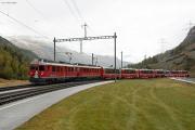 BEX mit ABe 4/4 III 53 & 54 in Bernina Suot