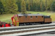 Bahnoldtimer - 20 Jahre Club 1889: Dampfschneeschleuder Xrotd 9213 in Pontresina