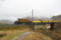 """Bahnoldtimer - 20 Jahre Club 1889: """"Bellavista-Express"""" mit Ge 4/4 182 auf der oberen Berninabachbrücke"""