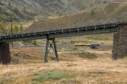 """Bahnoldtimer - 20 Jahre Club 1889: """"Montebello-Express"""" mit ABe 4/4 I 30 & 34 in der Schlaufe der Alp Bondo"""