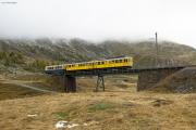 """Bahnoldtimer - 20 Jahre Club 1889: """"Montebello-Express"""" mit ABe 4/4 I 30 & 34 auf der oberen Berninabachbrücke"""