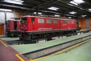 Bahnoldtimer - 20 Jahre Club 1889: Ge 6/6 II 703 im Depot Samedan