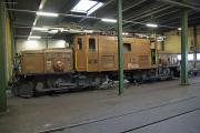 """Bahnoldtimer - 20 Jahre Club 1889: """"Krokodil"""" CC Ge 6/6 I 414 im Depot Samedan"""