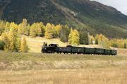 """Bahnoldtimer - 20 Jahre Club 1889: """"Holsboer-Express"""" mit G 3/4 11 zw. Samedan und Bever"""