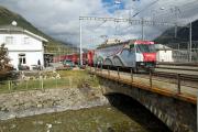 RE mit Ge 4/4 III 650 in Bever