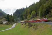 GEX/RE mit GE 4/4 III 651 erreicht Bergün