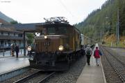 """Bahnoldtimer - 20 Jahre Club 1889: """"Pullmann-Express"""" mit Ge 6/6 I 415 in Bergün/Bravuogn"""
