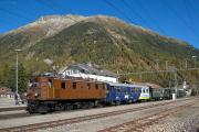 "Bahnoldtimer - 20 Jahre Club 1889: ""Lunghin-Express"" mit Ge 4/6 353 in Bever"