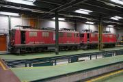 Bahnoldtimer - 20 Jahre Club 1889: Ge 4/4 I 602 & 603 im Depot Samedan