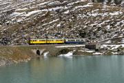 """Bahnoldtimer - 20 Jahre Club 1889: """"Montebello-Express"""" mit ABe 4/4 I 30 & 34 in der Bügliet-Bucht des Lago Bianco"""