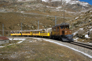 """Bahnoldtimer - 20 Jahre Club 1889: """"Bellavista-Express"""" mit Ge 4/4 182 in der Bügliet-Bucht des Lago Bianco"""