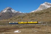 """Bahnoldtimer - 20 Jahre Club 1889: """"Montebello-Express"""" mit ABe 4/4 I 30 & 34 am Lej Pitschen"""