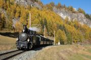 """Bahnoldtimer - 20 Jahre Club 1889: """"Holsboer-Express"""" mit G 3/4 11 zw. Madulain und La Punt"""
