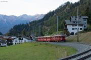 """Bahnoldtimer - 20 Jahre Club 1889: """"Fliegender Rhätier"""" mit ABe 4/4 501 oberhalb Bergün"""