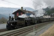 Bahnoldtimer - RhB-Winterdampf 2017: Dreifachtraktion mit G 3/4 11, G 4/5 107 & 108 Thusis - Samedan