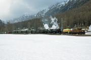 Bahnoldtimer - RhB-Winterdampf 2017: Vierfachtraktion mit Ge 6/6 415, G 3/4 11, G 4/5 107 & 108