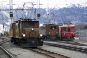 Bahnoldtimer - RhB-Winterdampf 2017: Fahrzeugparade in Pontresina