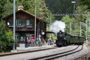 """Dampfzug """"Davoser Rundfahrt"""" mit Doppeltraktion G4/5 107 & 108"""