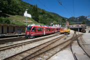 ABe 8/12 3507 erreicht Poschiavo