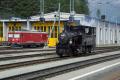 «Triangul cun vapur»: G 3/4 11 im Dreieck St. Moritz—Pontresina—Samedan am Bahnhofsfest St. Moritz am 26.8.2017. Pontresina.