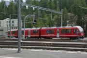 ABe 8/12 3501 im neuen Bahnhof St. Moritz (Berninalinie)