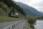 «Triangul cun vapur»: G 3/4 11 im Dreieck St. Moritz—Pontresina—Samedan am Bahnhofsfest St. Moritz am 26.8.2017. Bei Celerina.