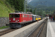 "Erlebniszug ""Albula"", ausnahmsweise mit Ge 6/6 II 702, Bergün/Bravuogn"