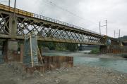 Alte Hinterrheinbrücke bei Reichenau. Davor entsteht die zweite neue Brücke.