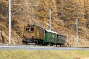 Sonderzug Zernez - Samedan mit Ge 2/4 222 zwischen Madulain und La Punt