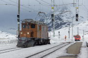 Fotofahrt mit Dampf-Schneeschleuder Xrotd 9213, Ge 4/4 182, ABe 4/4 II 46 & 47 und Gem 4/4 802