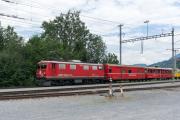 BoBo1 Ge 4/4 I 610 vor Erlebniszug Rheinschlucht. Castrisch