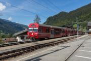 Regionalzug in Klosters Dorf