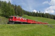 Ge 4/4 I 605 mit Sonderzug (FairFotoFahrt); Oberer Laret