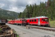 Ge 4/4 I 605 mit Sonderzug (FairFotoFahrt); Be 4/4 515; Davos Wolfgang