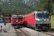 Ge 4/4 I 605 mit Sonderzug (FairFotoFahrt); Ge 4/4 651; Davos Wolfgang