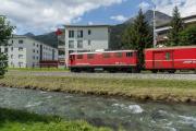 Ge 4/4 I 605 mit Sonderzug (FairFotoFahrt); Davos Dorf