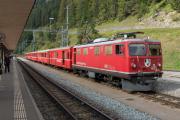 Ge 4/4 I 605 mit Sonderzug (FairFotoFahrt); Bergün/Bravuogn