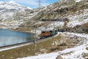 Ge 4/4 162 mit Sonderzug (FairFotoFahrt); Lago Bianco