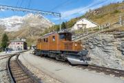 Ge 4/4 162 mit Sonderzug (FairFotoFahrt); Alp Grüm