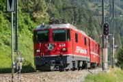 Ge 4/4 II 618 in Trin
