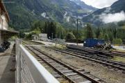 Mont Blanc-Express. Argentière während Erneuerungsarbeiten