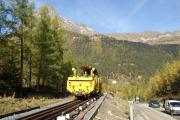 Mont Blanc-Express. SNCF. Umfassende Sanierung der Strecke Vallorcine-Chamonix. Vallorcine.